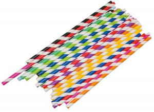 Paper straws 20 cm 50 pcs