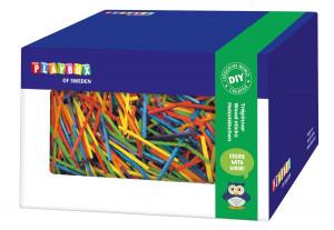 Holzstäbchen in Box bunt 440 gr