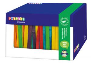 Holzstäbchen in Box bunt 1000 Stk.