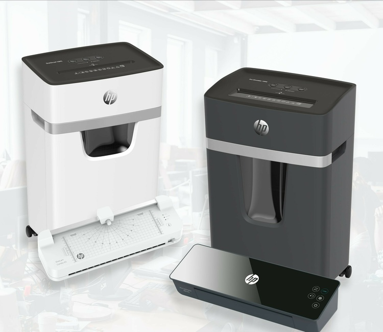 Shredders and laminators from HP/GO Europe
