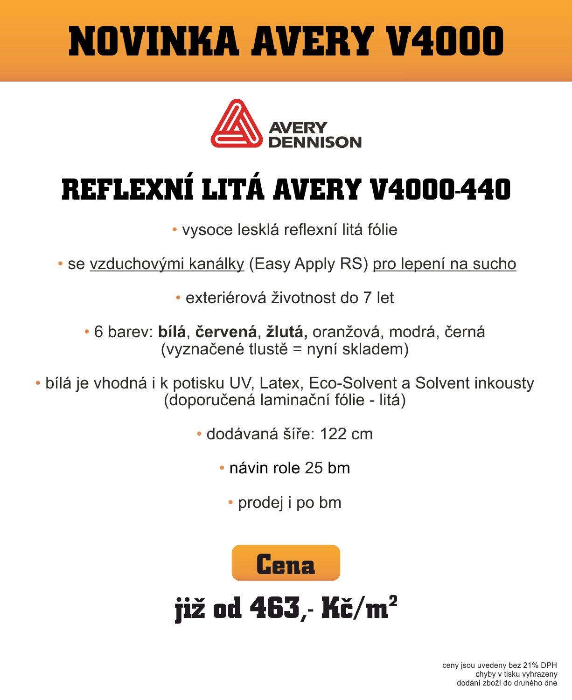 NOVINKA GR - Avery V4000