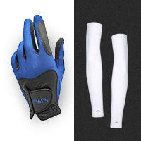 FIT39EX Classic Glove | Size S | Color น้ำเงิน/ดำ | NA/BK | Type ซ้าย | Left | 1 ชิ้น + STAN Arm Sleeves (Basic Style) Free Size, White Color 1 คู่ (ส่งฟรี EMS)