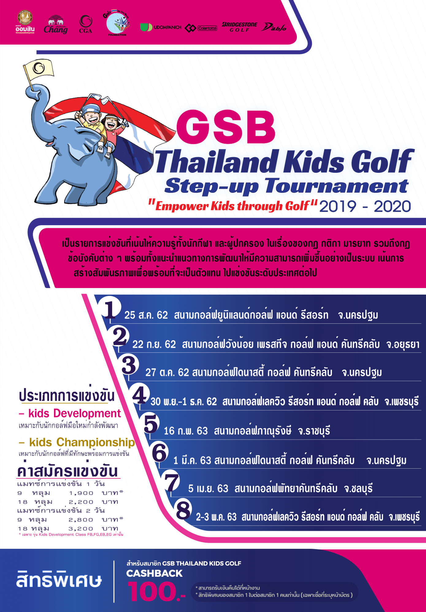 GSB Thailand Kids Golf Step-up Tournament 2019 - 2020