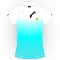 LOUDMOUTH GRADIENT POLO | Crystal (Ladies) | Size S