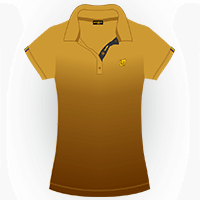LOUDMOUTH GRADIENT POLO | Gold (Ladies) | Size S