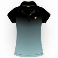 LOUDMOUTH GRADIENT POLO | Onyx (Ladies) | Size S