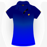 LOUDMOUTH GRADIENT POLO | Sapphire (Ladies) | Size S