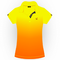LOUDMOUTH GRADIENT POLO | Topaz (Ladies) | Size S