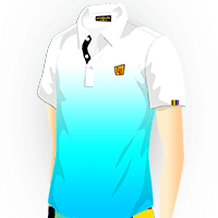 LOUDMOUTH GRADIENT POLO | Crystal (Men) | Size S