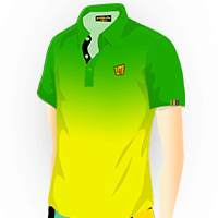 LOUDMOUTH GRADIENT POLO | Emerald (Men) | Size S