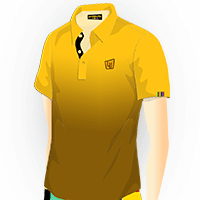 LOUDMOUTH GRADIENT POLO | Gold (Men) | Size S