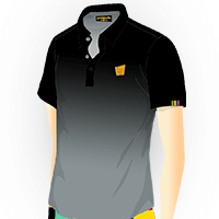 LOUDMOUTH GRADIENT POLO | Onyx (Men) | Size S