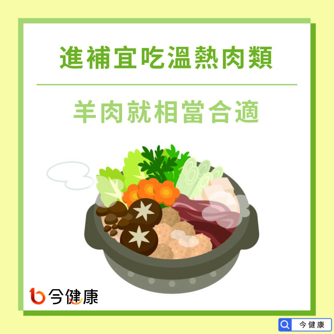 進補宜吃溫熱肉類,羊肉就相當合適