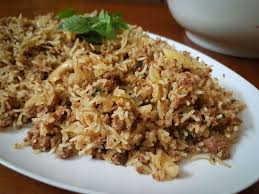 Mutton Keema Fride Rice
