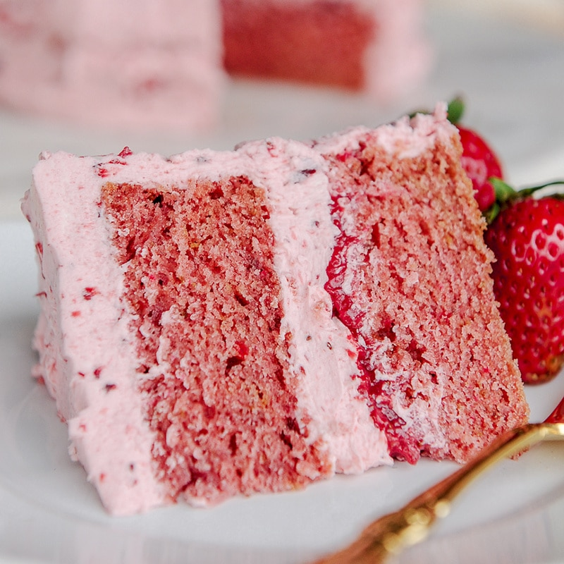 Strawberry Cool Cake Piece