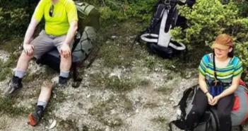 Google地圖驚見男子斷腿,男子一臉輕鬆像沒發生過一樣,畫面詭異(圖/翻攝自Times Now官網)