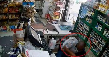 屏東男子不滿未戴口罩遭勸阻怒攻擊店員。(圖/翻攝自「cycy Liu」YouTube)