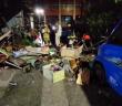 基隆和平島民宅發生氣爆。(圖/由中天新聞提供)