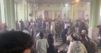阿國南部坎達哈市(Kandahar)一座什葉派清真寺今天發生威力強大的爆炸。取自Cevher 推特