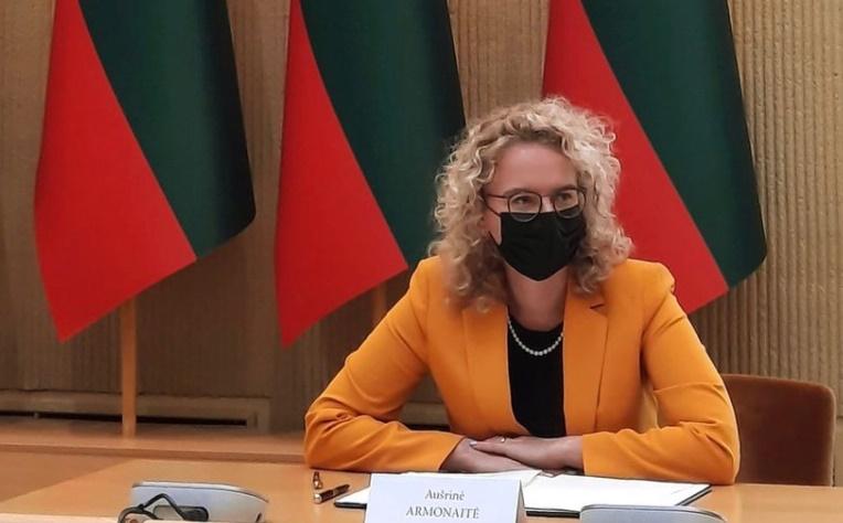 立陶宛經濟暨創新部長Aušrinė Armonaitė。(圖/翻攝自「@ArmonaiteA」Twitter)