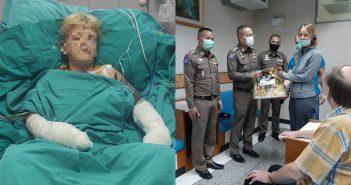 泰國警方與男童父母解開吃案誤會,承諾提供所需服務。(圖/翻攝自help_for_misha IG)