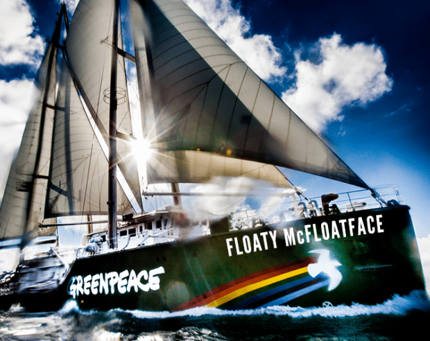 Image for Floaty McFloatface: The New Name For Greenpeace's Rainbow Warrior Ship