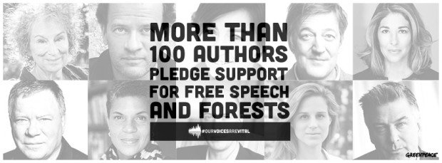 Image for Authors around the world stand up for free speech and forests