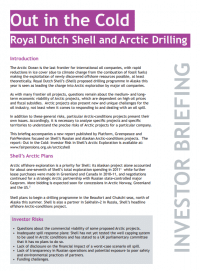 Image for Out in the Cold: Royal Dutch Shell and Arctic Drilling