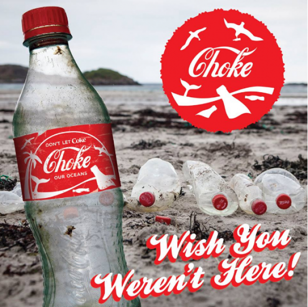 Image for Coca-Cola's marketing strategy = a gift for the End Ocean Plastics campaign