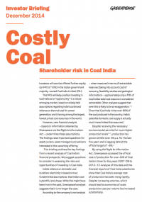 Costly coal report cover