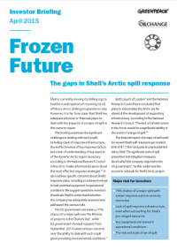 Image for Frozen Future: The gaps in Shell's Arctic spill response