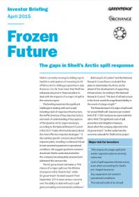 Frozen future report cover