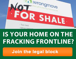 Not for shale sign