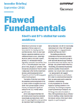 Image for Flawed Fundamentals: Shell's and BP's stalled tar sands ambitions