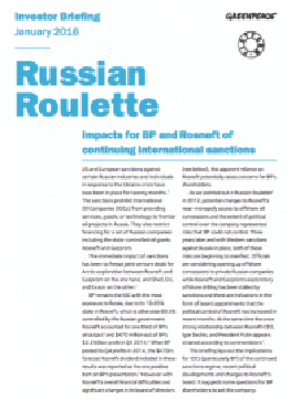 Image for Russian Roulette: Impacts for BP and Rosneft of continuing international sanctions