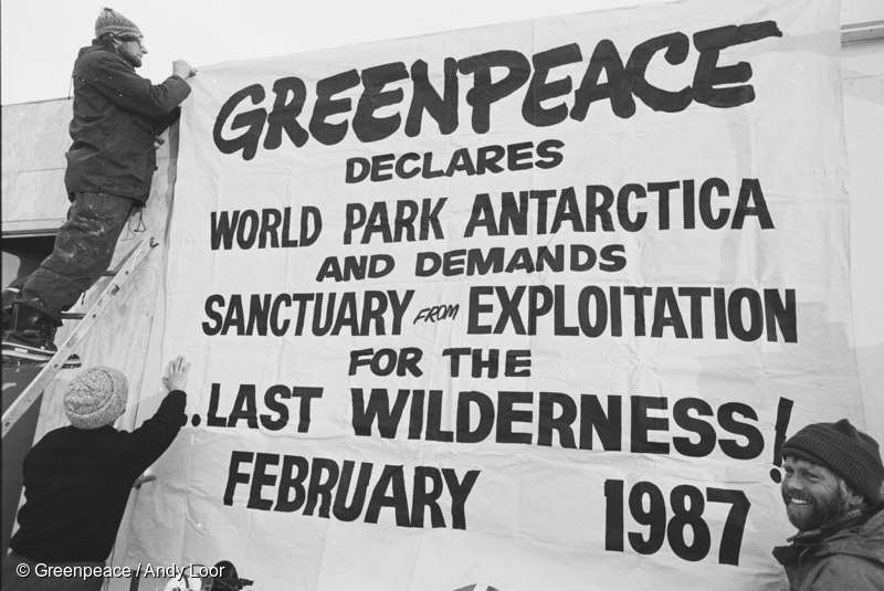 Greenpeace declares world park antarctica