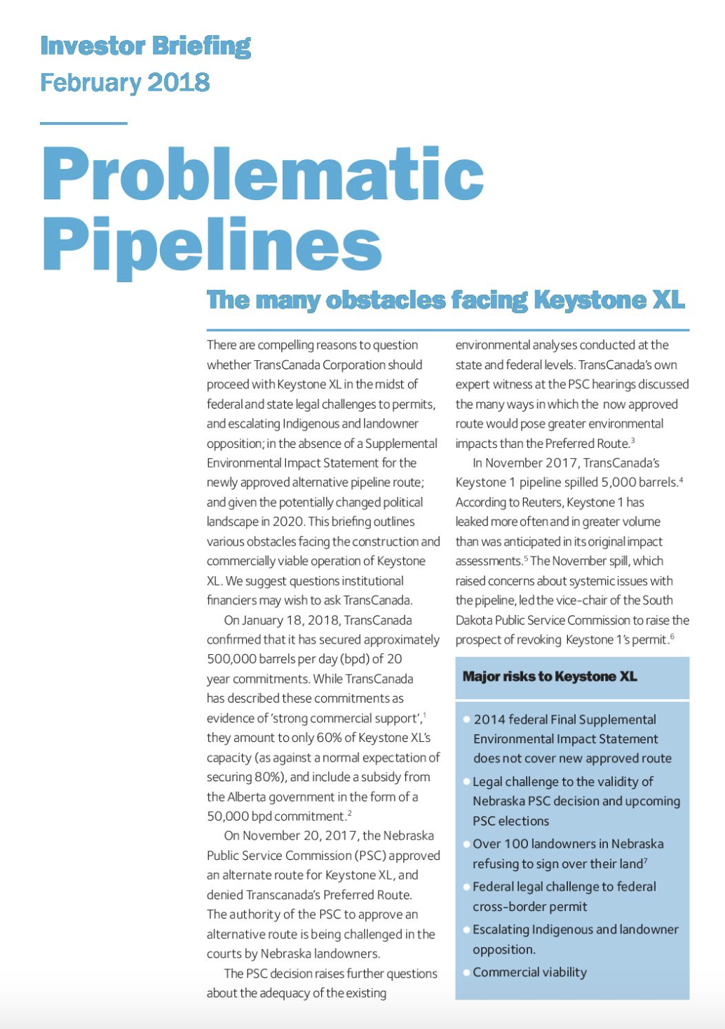 Image for Problematic Pipelines: The many obstacles facing Keystone XL
