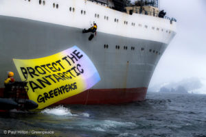 Greenpeace take peaceful action against the krill industry in the Antarctic
