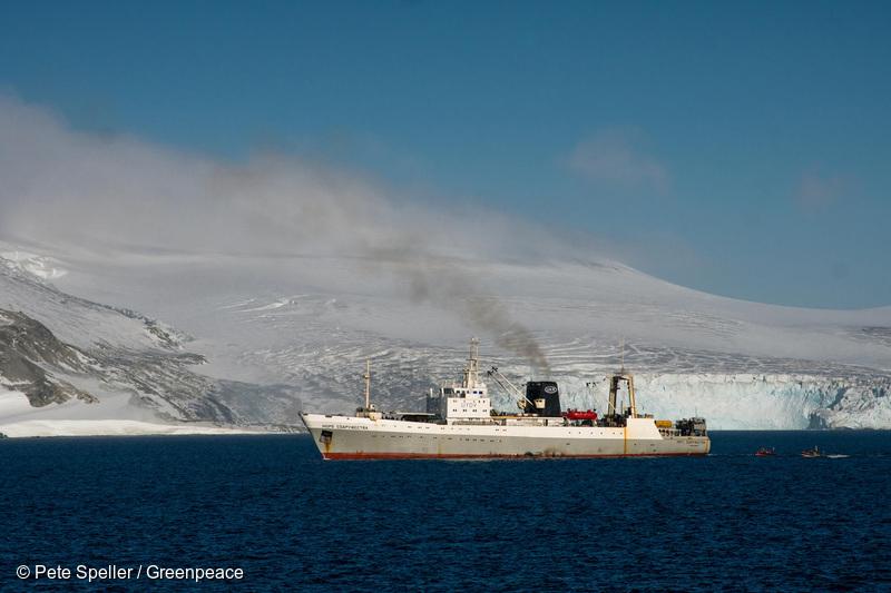 Antarctic krill trawler