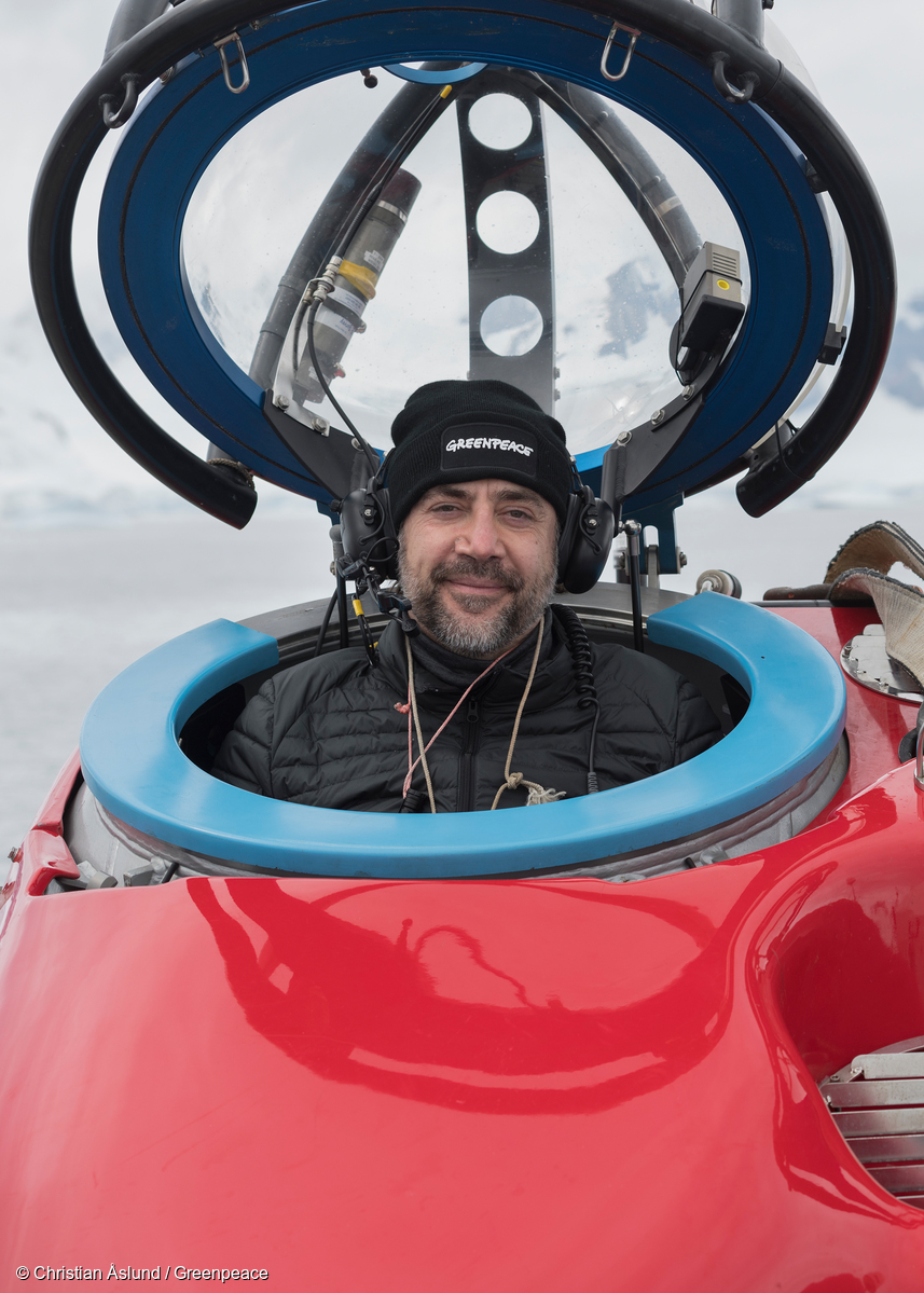 Image for In pictures: Oscar-winning actor Javier Bardem leads the call to protect the Antarctic Ocean