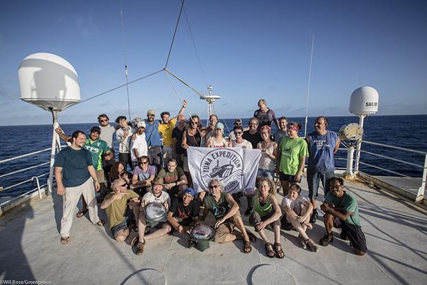 Greenpeace crew on the Esparanza