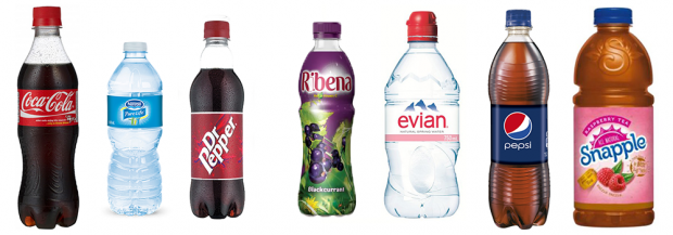 Branded plastic bottles