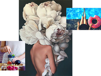 greenfield groves, lindsay giguiere, influencer, luxuries of life collage
