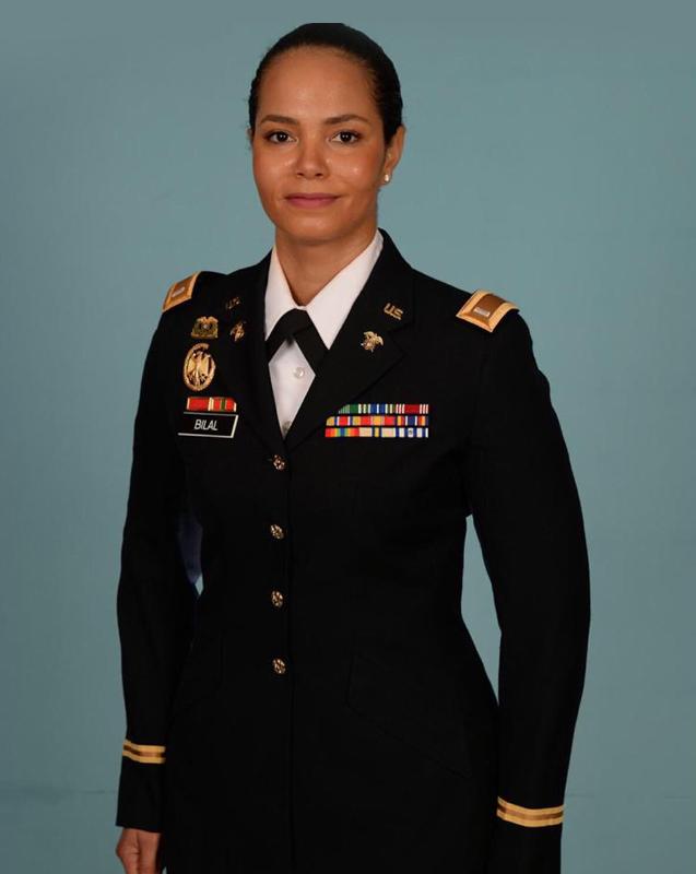 lindsay giguiere, rasheedah bilal member of the air national guard in her civilian attire