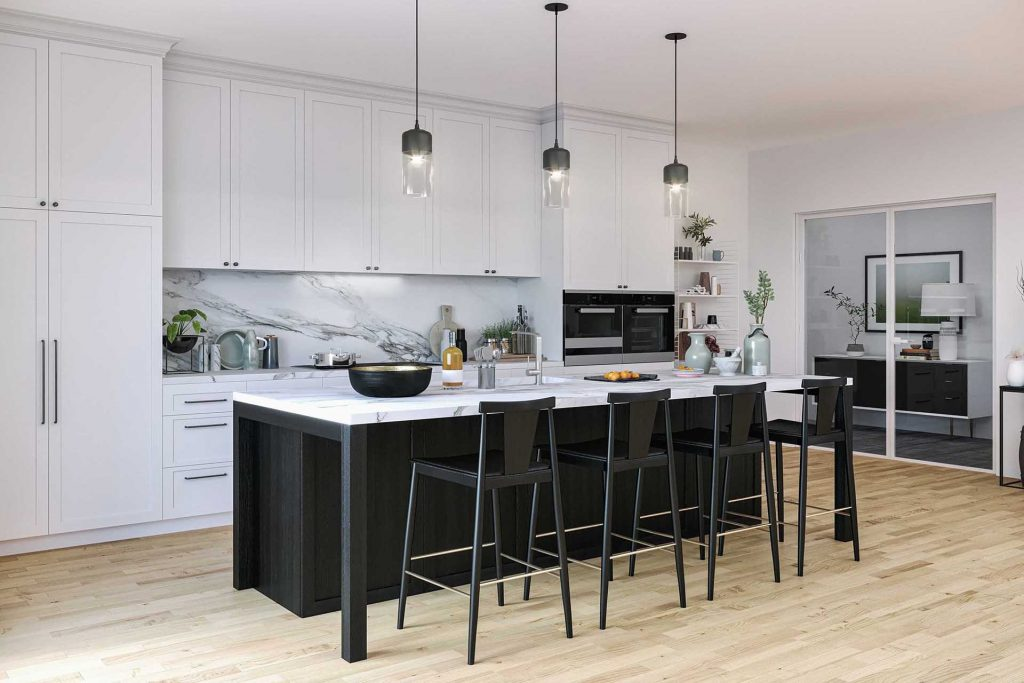 lindsay giguiere, two tone kitchen ideas