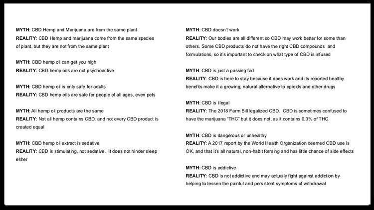 lindsay giguiere, myths vs the realities of CBD cannabidiol botanical hemp