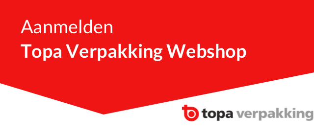 Aanmelden Topa Verpakking Webshop