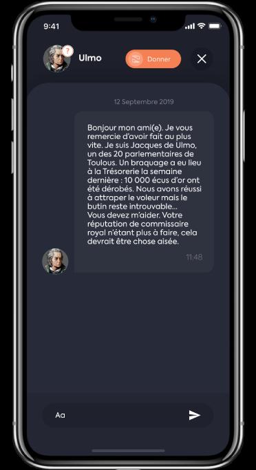 capture d'écran dialogue