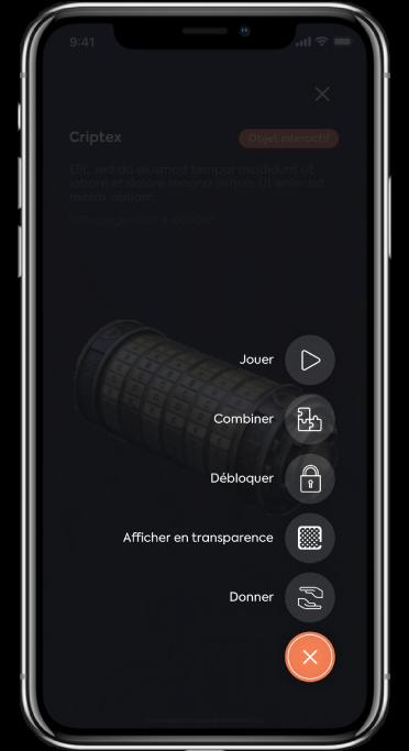 capture d'écran menu