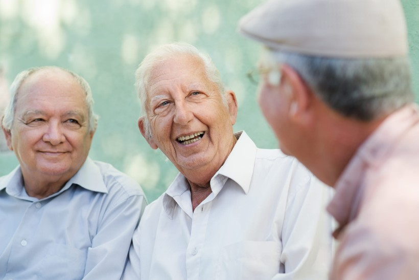 seniors spending time outside in their independent living community